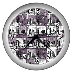 Comic book  Wall Clocks (Silver)