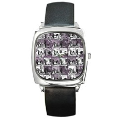 Comic book  Square Metal Watch