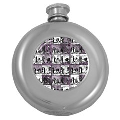 Comic book  Round Hip Flask (5 oz)
