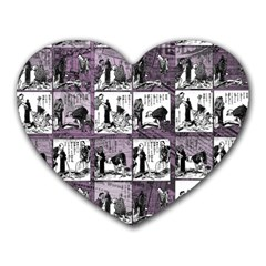 Comic book  Heart Mousepads