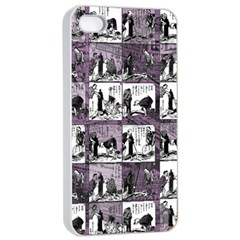 Comic book  Apple iPhone 4/4s Seamless Case (White)