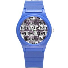 Comic book  Round Plastic Sport Watch (S)