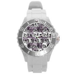 Comic book  Round Plastic Sport Watch (L)