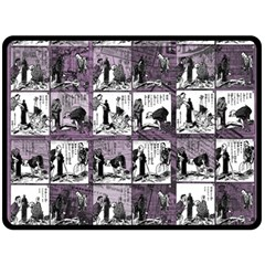 Comic book  Double Sided Fleece Blanket (Large)