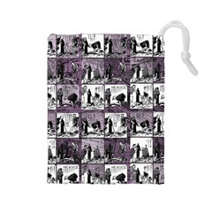 Comic book  Drawstring Pouches (Large)