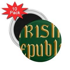 The Irish Republic Flag (1916, 1919-1922) 2.25  Magnets (10 pack)