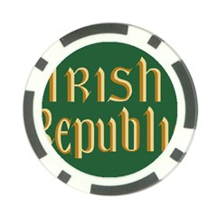 The Irish Republic Flag (1916, 1919-1922) Poker Chip Card Guard