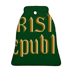 The Irish Republic Flag (1916, 1919-1922) Bell Ornament (Two Sides)