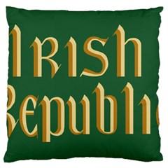 The Irish Republic Flag (1916, 1919-1922) Large Flano Cushion Case (Two Sides)