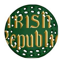 The Irish Republic Flag (1916, 1919-1922) Ornament (Round Filigree)