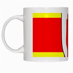 Flag of the Province of Ulster  White Mugs