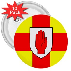 Flag of the Province of Ulster  3  Buttons (10 pack)