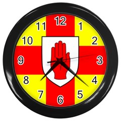 Flag of the Province of Ulster  Wall Clocks (Black)