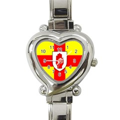 Flag of the Province of Ulster  Heart Italian Charm Watch