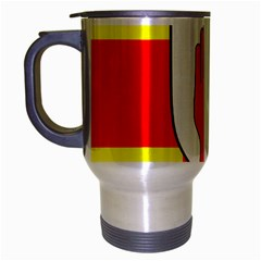 Flag of the Province of Ulster  Travel Mug (Silver Gray)
