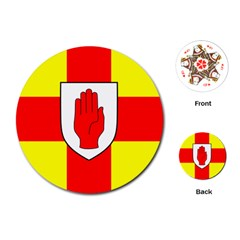 Flag of the Province of Ulster  Playing Cards (Round)
