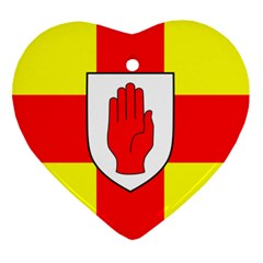Flag of the Province of Ulster  Heart Ornament (Two Sides)