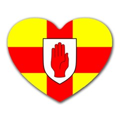 Flag of the Province of Ulster  Heart Mousepads
