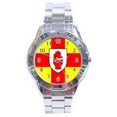 Flag of the Province of Ulster  Stainless Steel Analogue Watch