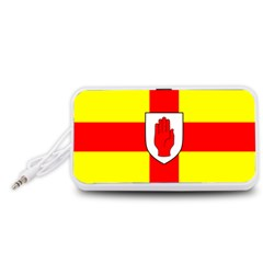 Flag of the Province of Ulster  Portable Speaker (White)