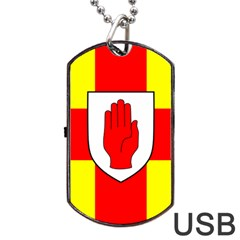 Flag of the Province of Ulster  Dog Tag USB Flash (One Side)