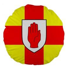 Flag of the Province of Ulster  Large 18  Premium Round Cushions
