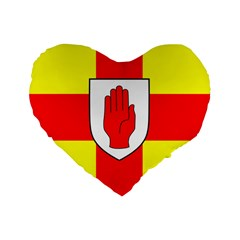 Flag of the Province of Ulster  Standard 16  Premium Flano Heart Shape Cushions