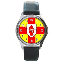 Flag of the Province of Ulster  Round Metal Watch