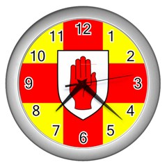 Flag of the Province of Ulster  Wall Clocks (Silver)