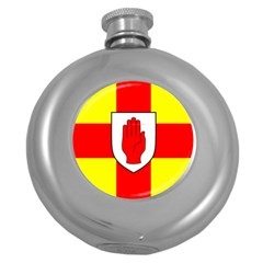 Flag of the Province of Ulster  Round Hip Flask (5 oz)