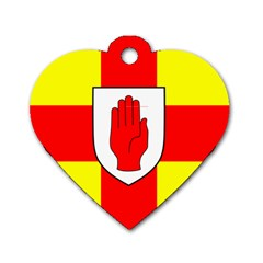 Flag of the Province of Ulster  Dog Tag Heart (One Side)