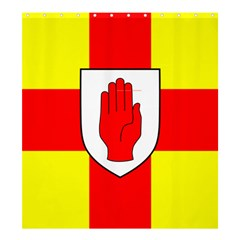 Flag of the Province of Ulster  Shower Curtain 66  x 72  (Large)