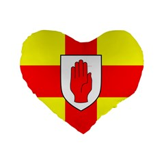 Flag of the Province of Ulster  Standard 16  Premium Heart Shape Cushions