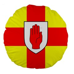 Flag of the Province of Ulster  Large 18  Premium Flano Round Cushions