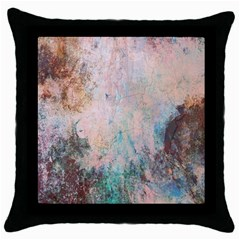 Cold Stone Abstract Throw Pillow Case (Black)