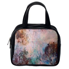 Cold Stone Abstract Classic Handbags (One Side)