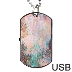 Cold Stone Abstract Dog Tag Usb Flash (one Side)