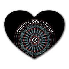 Twenty One Pilots Heart Mousepads
