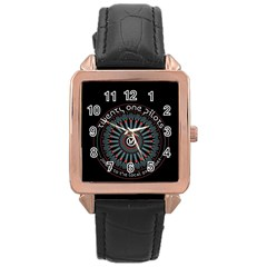 Twenty One Pilots Rose Gold Leather Watch