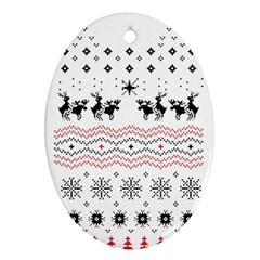 Ugly Christmas Humping Ornament (Oval)