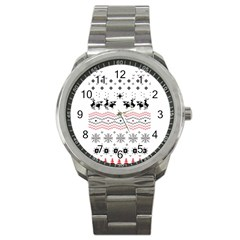 Ugly Christmas Humping Sport Metal Watch