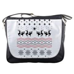 Ugly Christmas Humping Messenger Bags