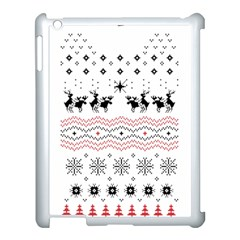 Ugly Christmas Humping Apple iPad 3/4 Case (White)