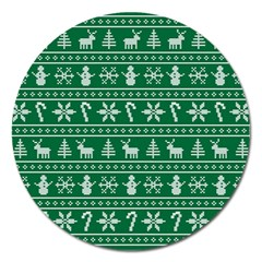 Ugly Christmas Magnet 5  (round)