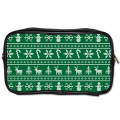 Ugly Christmas Toiletries Bags