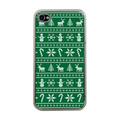 Ugly Christmas Apple iPhone 4 Case (Clear)