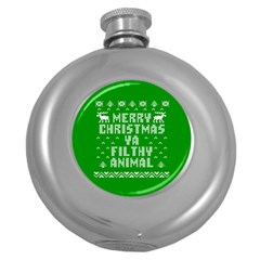 Ugly Christmas Sweater Round Hip Flask (5 oz)