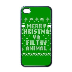 Ugly Christmas Sweater Apple Iphone 4 Case (black)