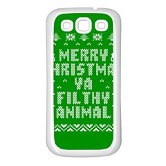 Ugly Christmas Sweater Samsung Galaxy S3 Back Case (White)