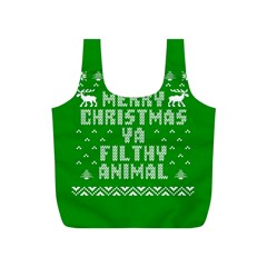 Ugly Christmas Sweater Full Print Recycle Bags (s)